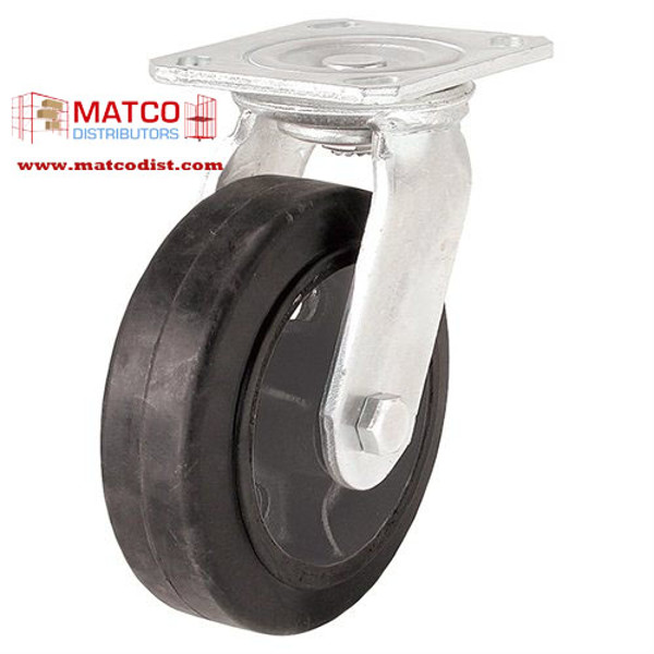 """Picture of 5"""" x 2"""" Mold On Rubber Swivel Caster"""