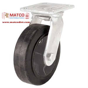 """Picture of 6"""" x 2"""" Mold On Rubber Swivel Caster"""