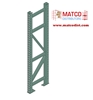 Picture of Tear Drop Pallet Rack Upright 12' x 48""