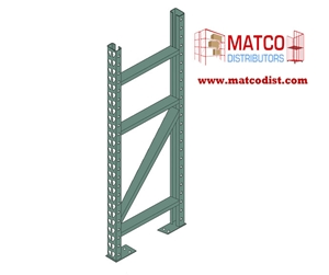 Picture of Tear Drop Pallet Rack Upright Frame 8' x 24""